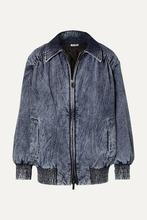 MIU MIU   Miu Miu - Oversized Denim Jacket - Blue   Clouty