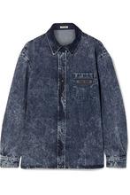 MIU MIU   Miu Miu - Oversized Denim Shirt - Blue   Clouty