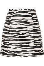 we11done - Zebra-print Satin Mini Skirt - Zebra print