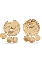 Alighieri | Alighieri - Baby Lion Gold-plated Earrings - one size | Clouty
