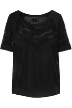 Varley | Varley - Johnston Perforated Stretch-jersey T-shirt - Black | Clouty