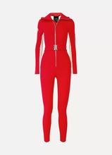 Cordova | Cordova - The Aspen Striped Ski Suit - Red | Clouty