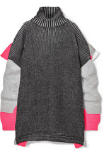 Balenciaga | Balenciaga - Oversized Layered Wool-blend Turtleneck Sweater - Black | Clouty