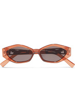 Le Specs | Le Specs - + Jordan Askill Petit Panthere Cat-eye Acetate And Gold-tone Sunglasses - Brown | Clouty
