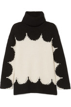 VALENTINO | Valentino - Oversized Wool Turtleneck Sweater - Black | Clouty