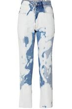 E.L.V. Denim   E.L.V. Denim - The Twin Bleached High-rise Straight-leg Jeans - Mid denim   Clouty