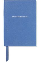 Smythson | Smythson - Panama Off The Beaten Track Textured-leather Notebook - Blue | Clouty