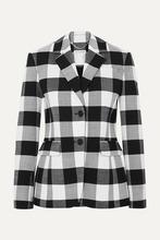 Altuzarra | Altuzarra - Fenice Gingham Wool-blend Twill Blazer - Black | Clouty