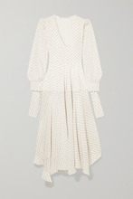 Stella McCartney   Stella McCartney - Asymmetric Printed Silk Maxi Dress - Cream   Clouty