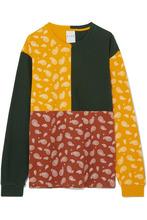 Kith | Kith - Paneled Printed Cotton-jersey T-shirt - Mustard | Clouty