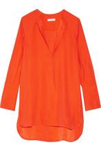 Equipment | Equipment - Niko Washed-silk Tunic - Bright orange | Clouty