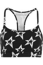 Perfect Moment | Perfect Moment - Printed Stretch Sports Bra - Black | Clouty