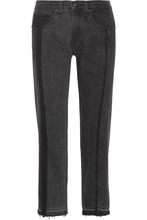 RAG & BONE | rag & bone - 2 Tone Cropped High-rise Straight-leg Jeans - Black | Clouty