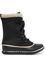 Sorel | Sorel - Caribou Slim Waterproof Nubuck And Rubber Boots - Black | Clouty