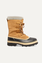 Sorel | Sorel - Caribou Waterproof Suede And Rubber Boots - Tan | Clouty