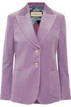 GUCCI | Gucci - Cotton-blend Velvet Blazer - Lilac | Clouty