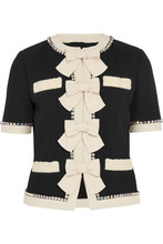 GUCCI | Gucci - Swarovski Crystal And Bow-embellished Wool Jacket - Black | Clouty