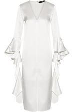 Ellery | Ellery - Ruffled Satin-crepe Dress - Ivory | Clouty