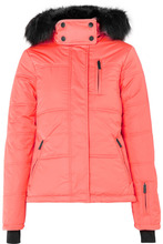 TOPSHOP | Topshop Sno - Rio Hooded Faux Fur-trimmed Quilted Ski Jacket - Papaya | Clouty