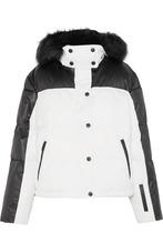 TOPSHOP | Topshop Sno - Siren Hooded Faux Fur-trimmed Ski Jacket - White | Clouty