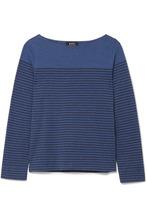 A.P.C. | A.P.C. Atelier de Production et de Creation - Marienere Liz Striped Cotton-blend Jersey Top - Blue | Clouty