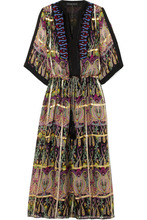 Etro | Etro - Embellished Metallic Printed Silk-blend Jacquard Maxi Dress - Black | Clouty