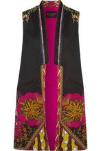 Etro | Etro - Satin-trimmed Printed Faille Vest - Black | Clouty