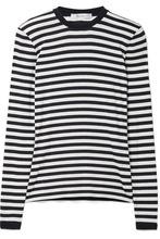 MAX MARA | Max Mara - Favola Striped Stretch-jersey Top - Midnight blue | Clouty