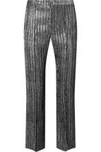 Isabel Marant   Isabel Marant - Dansley Cropped Textured-lame Straight-leg Pants - Silver   Clouty