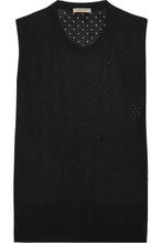 Bottega Veneta | Bottega Veneta - Perforated Silk Tank - Black | Clouty