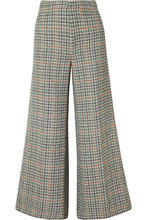 Isabel Marant   Isabel Marant - Trevi Checked Tweed Wide-leg Pants - Green   Clouty