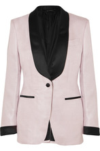 Tom Ford | TOM FORD - Satin-trimmed Woven Tuxedo Jacket - Lilac | Clouty