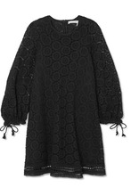 See by Chloé | See By Chloe - Corded Cotton-lace Mini Dress - Black | Clouty