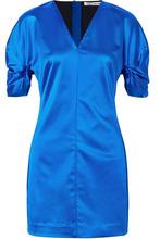 Elizabeth And James | Elizabeth and James - Sloan Duchesse-satin Mini Dress - Bright blue | Clouty