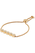 Monica Vinader | Monica Vinader - Linear Bead Gold Vermeil Diamond Bracelet - one size | Clouty