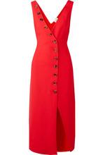 Khaite - Christy Button-detailed Pique Midi Dress - Red
