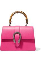GUCCI | Gucci - Dionysus Bamboo Medium Textured-leather Tote - Bright pink | Clouty