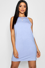Boohoo | High Neck Plain Shift Dress | Clouty