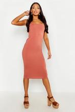 Boohoo | Square Neck Bodycon Midi Dress | Clouty