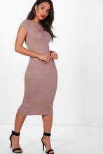 Boohoo | Cap Sleeve Jersey Bodycon Midi Dress | Clouty