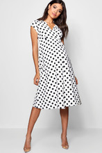 Boohoo   Maternity  Polka Dot Wrap Dress   Clouty