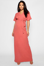 Boohoo | Maternity Crepe Wrap Maxi Dress | Clouty