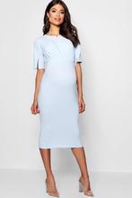 Boohoo | Maternity  Split Sleeve Wiggle Midi Dress | Clouty