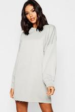 Boohoo | Oversized Balloon Sleeve Sweater Dress | Clouty
