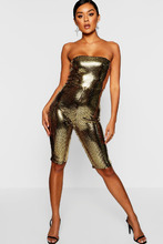Boohoo | Sequin Sparkle Unitard | Clouty