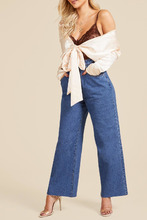Boohoo   Cinched In High Waist Crop Wide Leg Jeans   Clouty