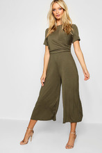 Boohoo | Wrap Culotte Jumpsuit | Clouty