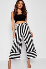 Boohoo   Crepe Stripe Contrast Culotte Trouser   Clouty