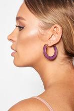 Boohoo | Pink Iridescent Hoop Earrings | Clouty