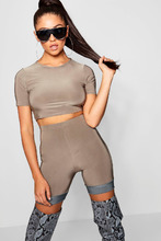 Boohoo | Contrast Panel Cycle Short | Clouty